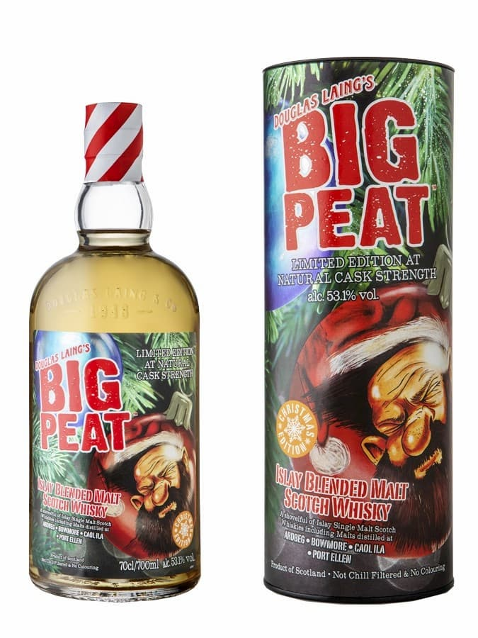 3 whiskies pour Noe^l ; Big Peat Christams edition 2020