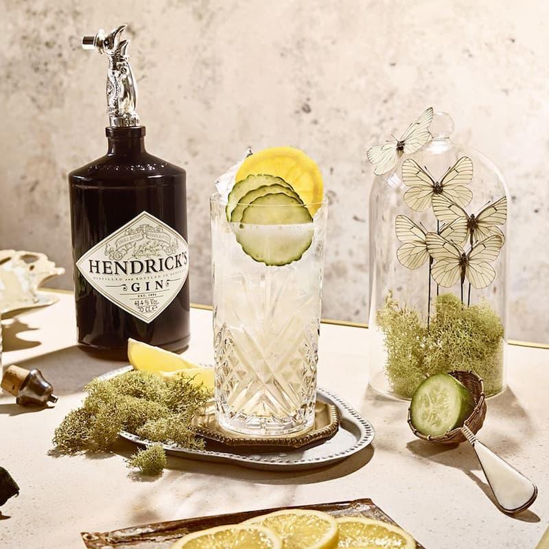 La collection insolite de cocktails d'Hendrick's : cucumber Lemonade