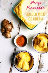 No need for an ice cream maker! This smooth and creamy tropical golden milk ice cream uses ingredients that you can actually feel good about and is the perfect homemade treat!