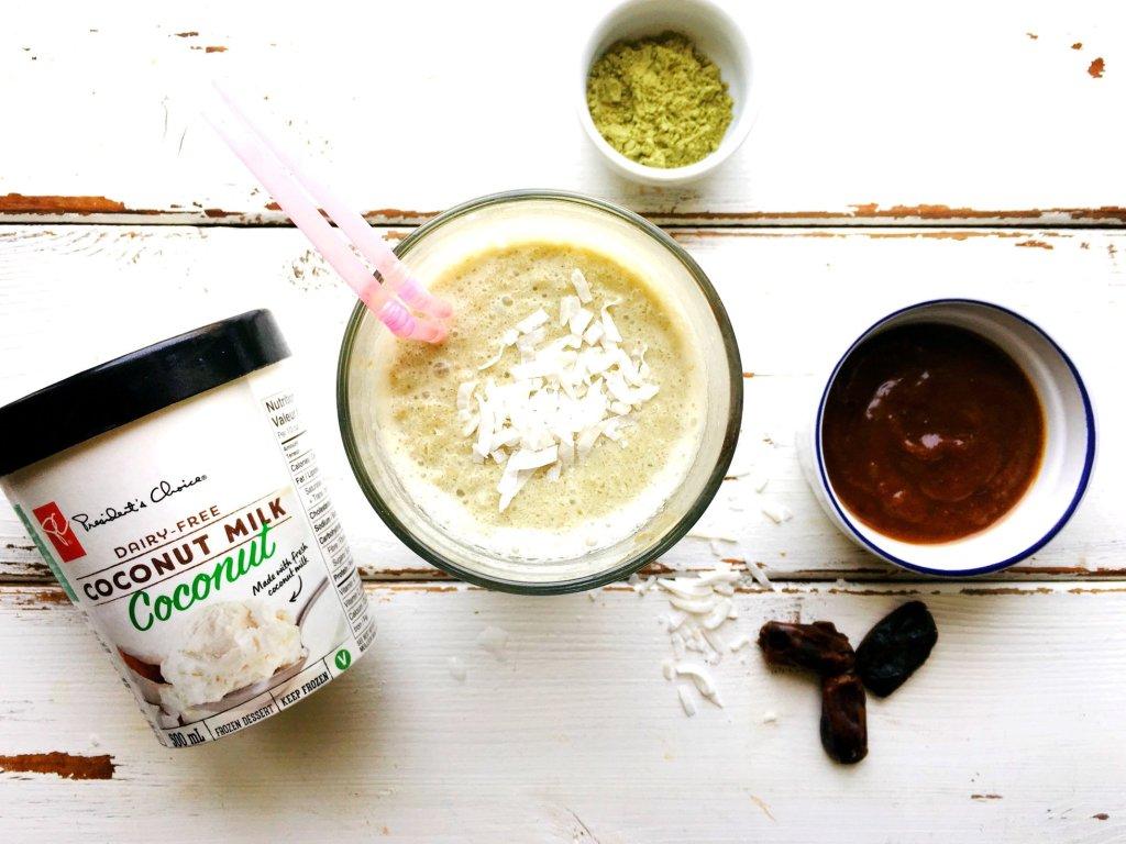 Matcha Coconut Caramel Milkshake ELPrsz