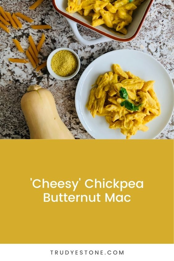 This 'Cheesy' Chickpea Butternut Mac is the ultimate comfort food and is made healthier with a few key swaps!