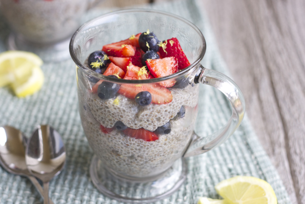 This chia seed pudding is a great treat, but will leave you with energy rather than a sugar crash.