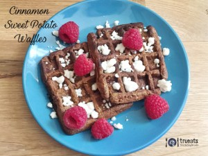 cinnamon sweet potato waffles