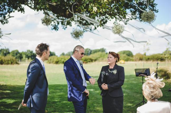 house meadow wedding blessing groom best man awaiting bride independent celebrant katie keen true blue ceremonies