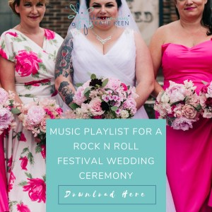 wedding playlists music playlist for a rock n roll festival wedding ceremony true blue ceremonies independent wedding celebrant katie keen