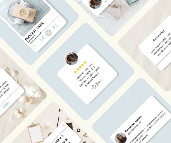 The Basics Instagram Post Templates by True Blue Creatives