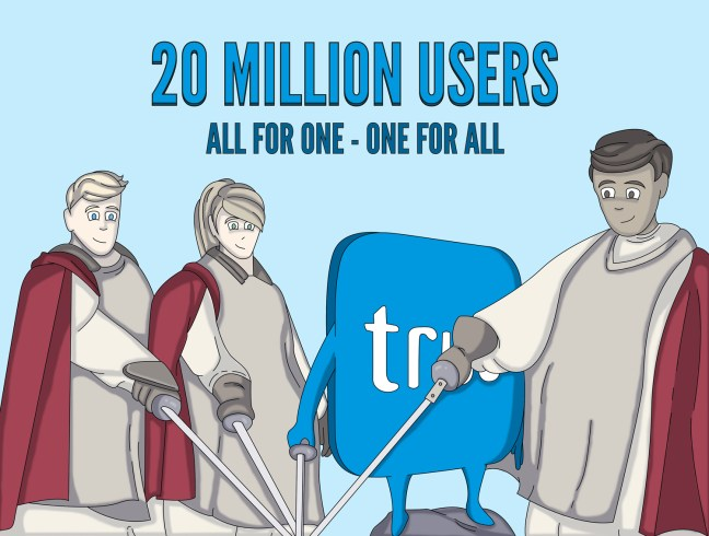 20 million users illustration