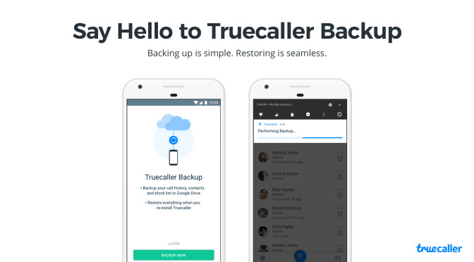Say Hello to Truecaller Backup