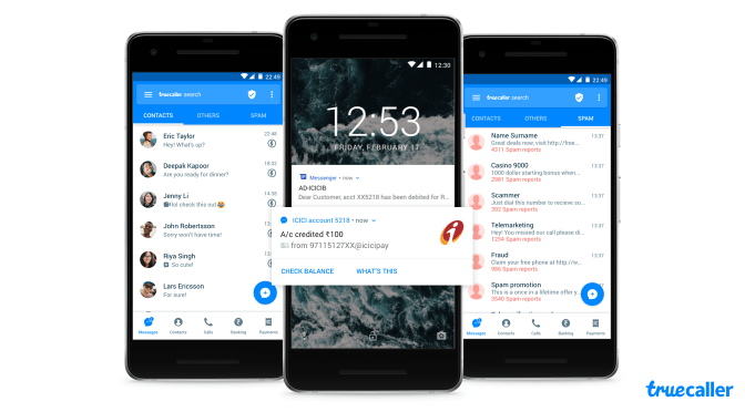Smarter Messaging with Classification, Smart Notification and Backup features for Truecaller