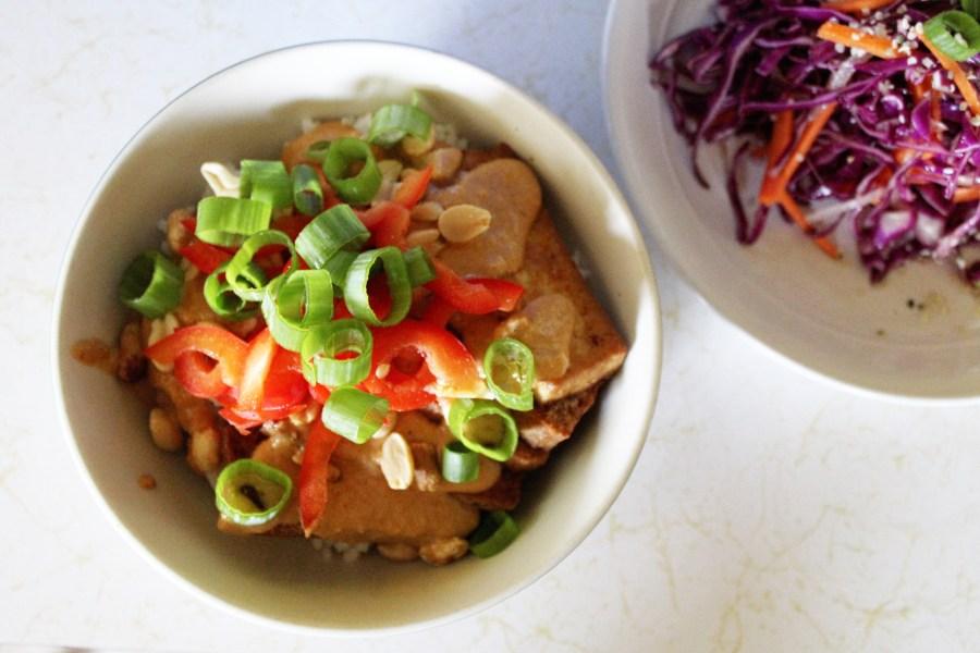 crispy tofu peanut satay