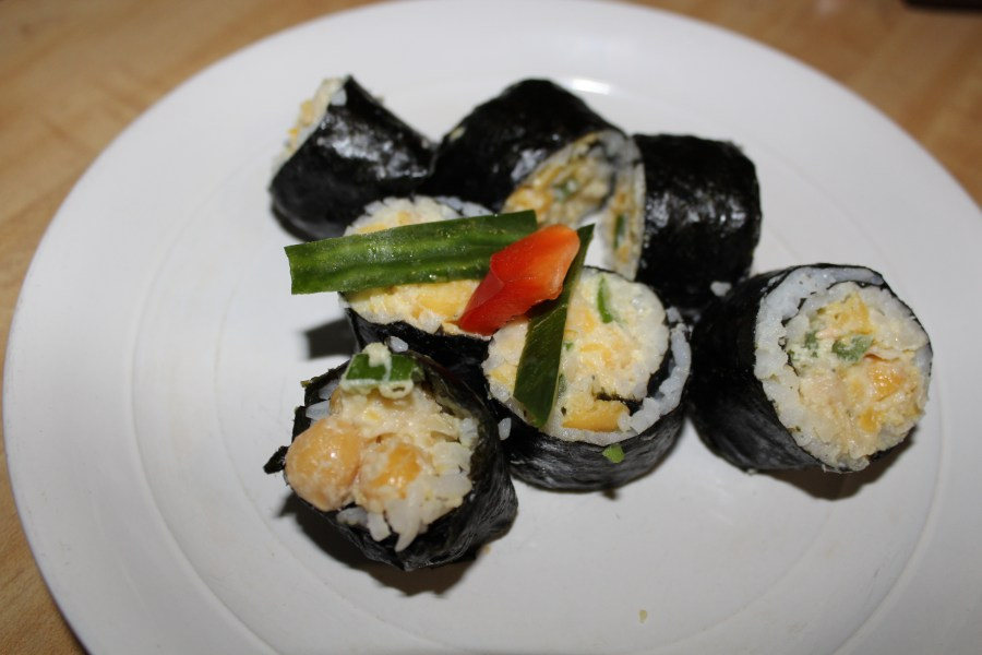 vegan tuna sushi roll