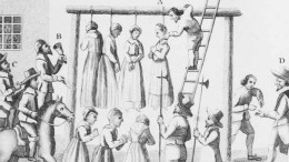Women hanged for witchcraft.
