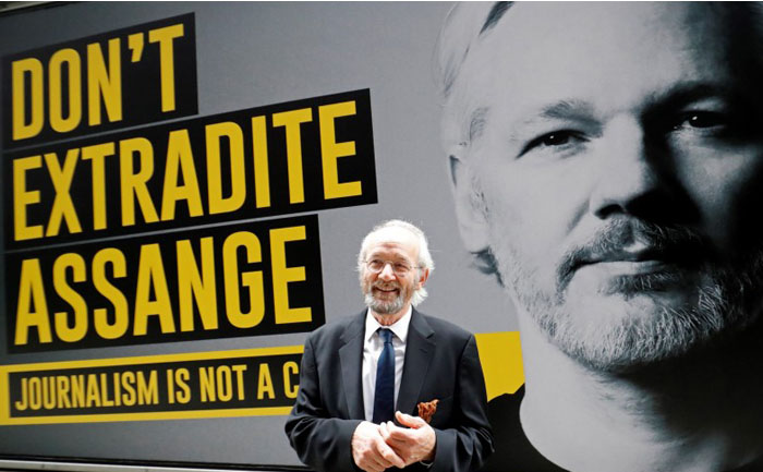 Julian Assange father John Shipton