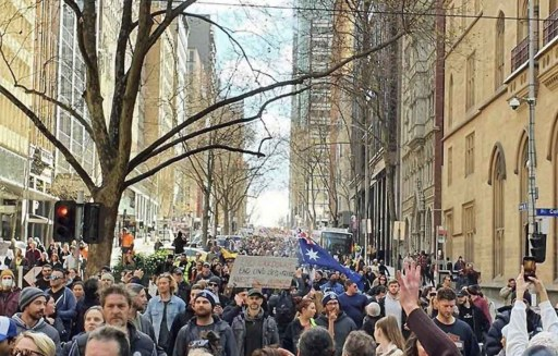 World-Wide Rally For Freedom - Melbourne, July 24, 2021.