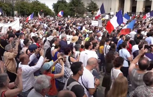 World-Wide Rally For Freedom - Paris, July 24, 2021.