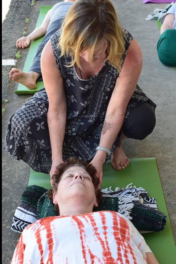 Our amazing Yoga instructor Terri Harrington from Tula Yoga