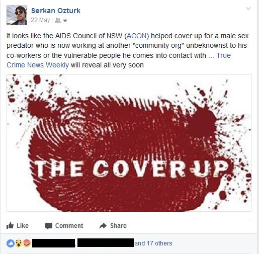 FacebookPostAboutACONCoverUp