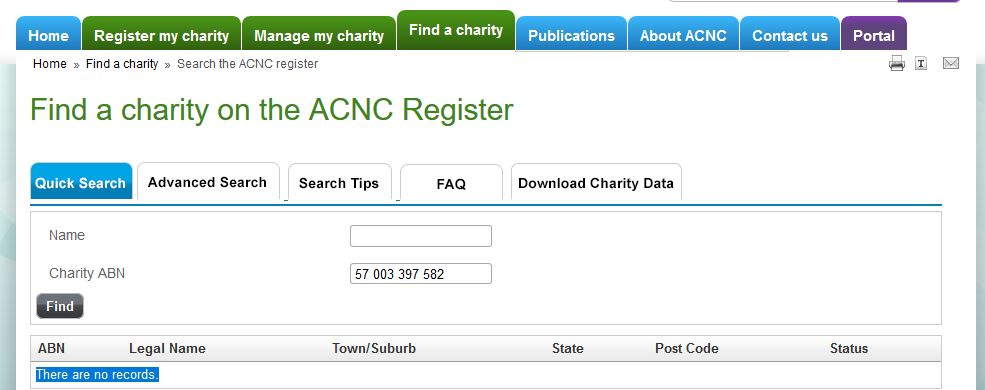 Charity Register has no records of Star Observer being an official not for profit