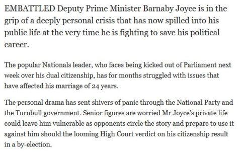 Daily Tele Barnaby Joyce 2