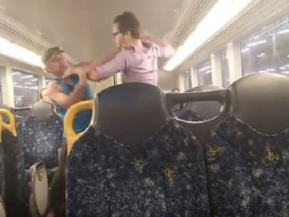 ROYAL RAIL RUMBLE! Bloody fight on Sydney train between city worker & drunk ends with a man hug