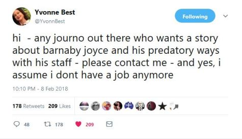 Yvonne Best ready to spill beans on Barnaby Joyce