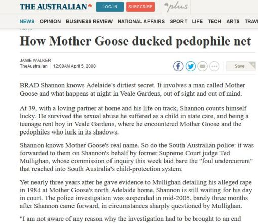 The Australian story on Mother Goose April 2008