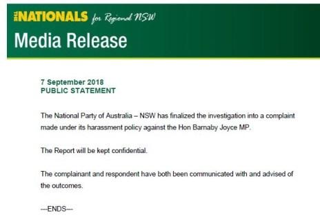 Nationals Statement