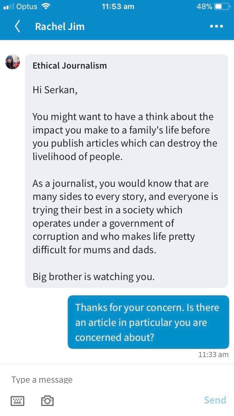 Message from Friend of Scott Mackenzie wife