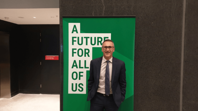 "GREENS A GO-GO! Richard Di Natale ""hopeful & optimistic"" his party can play meaningful role at election"