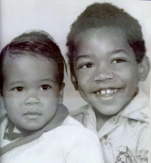 Jimi Hendrix (on right)