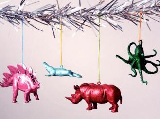 Glitter Animal Ornaments
