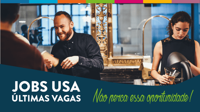 Como trabalhar e estudar inglês nos EUA. Jobs USA. Últimas vagas!