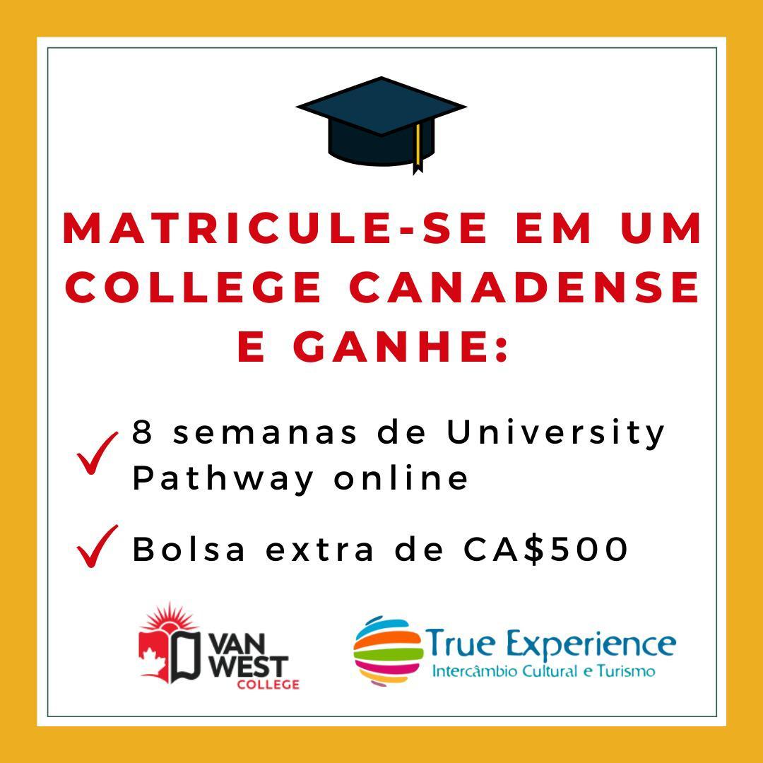 Promoção para matrículas de College em Vancouver