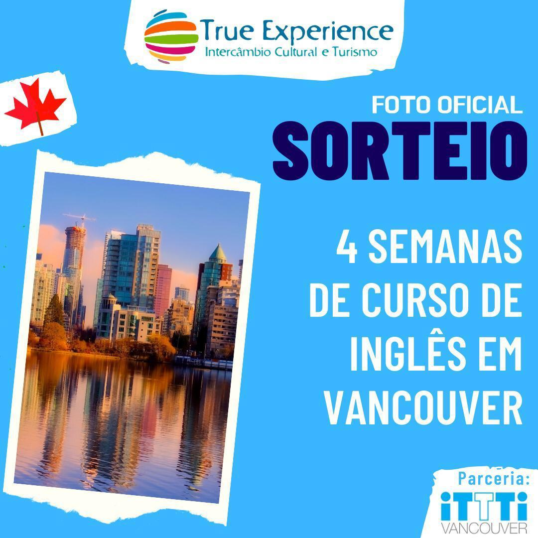 SORTEIO – 4 Semanas de Curso de Inglês em Vancouver