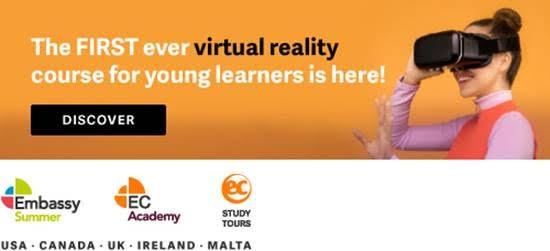 Venha aprender inglês em um curso de realidade virtual!