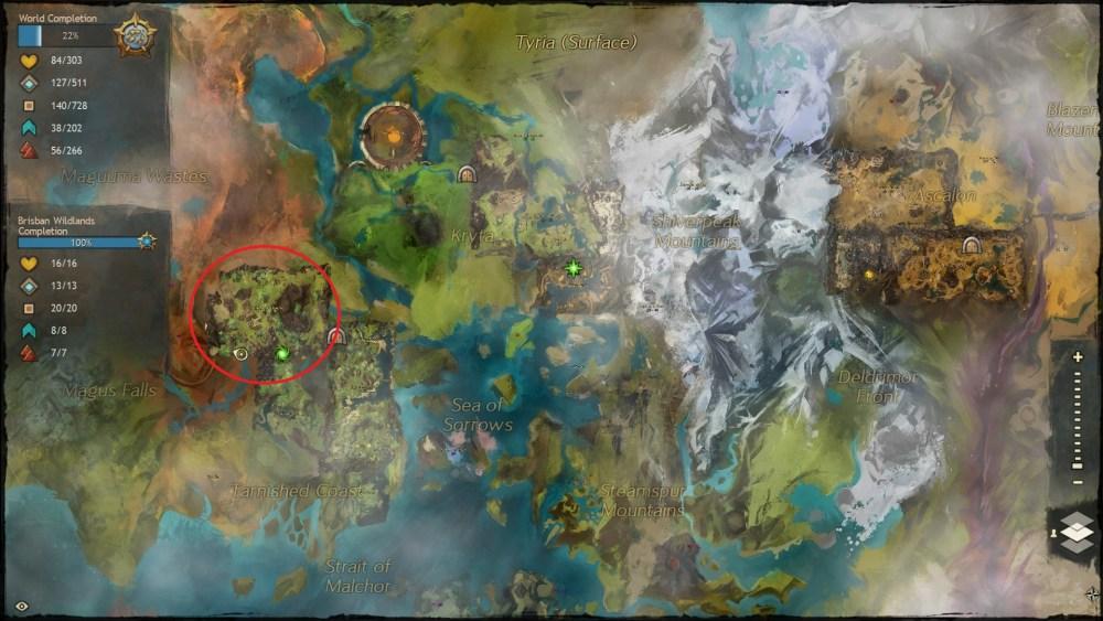 Let's Visit Tyria - All the Vistas in Guild Wars 2 - Brisban Wildlands (1/6)