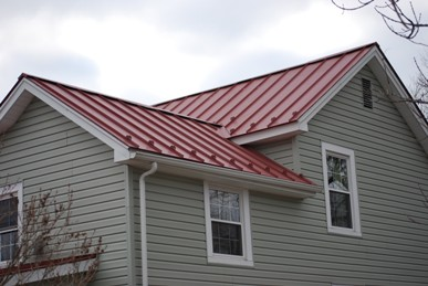 Virginia City completed metal roof job.