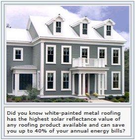 Energy Savings with Cool Metal Roofing