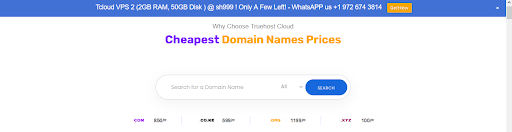 Domain Search on Truehost