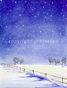 winter landscape christmas card design