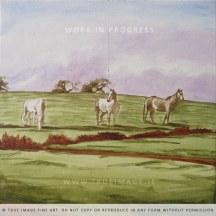 horses in a field wip2
