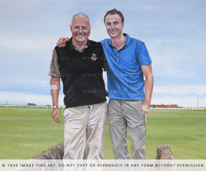 father and son portrait painting from st. andrews