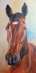 horse painting in progress 3