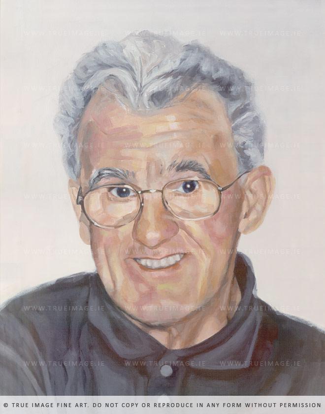 man portrait acrylic