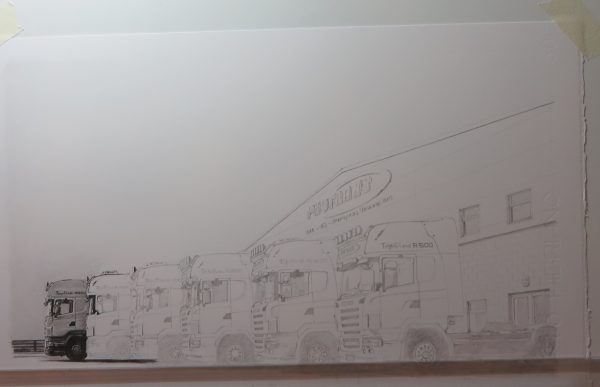 drawing trucks progress