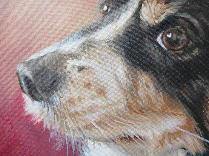 detail of a painting canvas