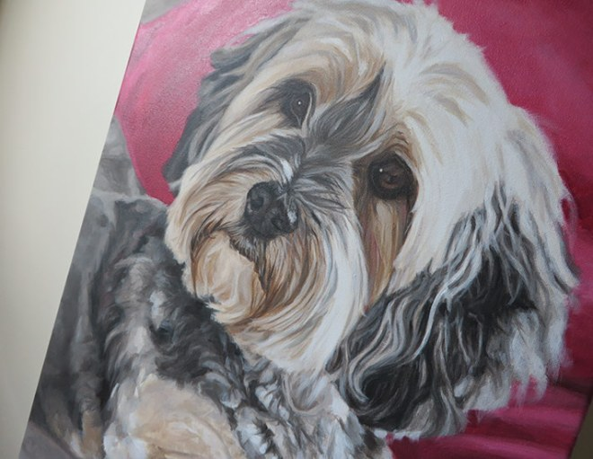 yorkie painting canvas