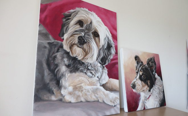 acrylic dog portraits canvas