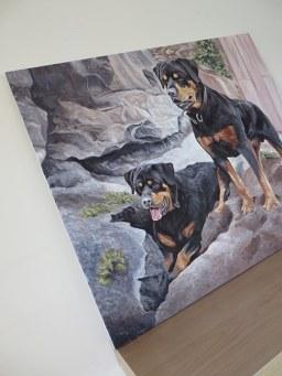dog portrait canvas