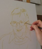 initial sketch for a portrait